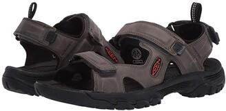 Keen Targhee III Open Toe Sandal (Black/Grey) Men's Shoes