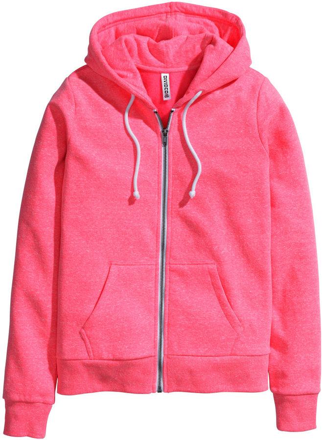 H&M Hooded Jacket - Neon pink - Ladies