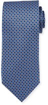 Neiman Marcus Italian-Made Micro Silk Printed Tie, Blue