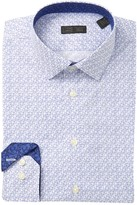 14th & Union Floral Print Stretch Trim Fit Dress Shirt