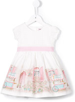 MonnaLisa printed flared dress - kids - Cotton - 12 mth