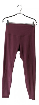 Lululemon Pink Synthetic Trousers