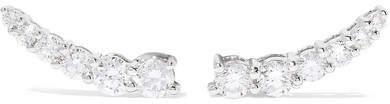 Anita Ko Floating 18-karat White Gold Diamond Earrings