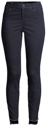 Lafayette 148 New York Mercer Mid-Rise Step-Hem Skinny Jeans
