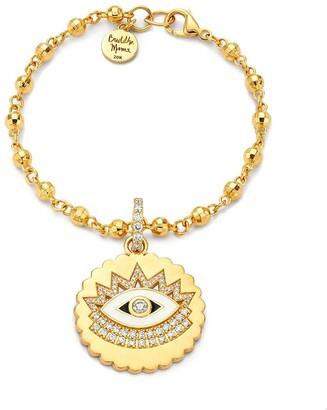 BUDDHA MAMA 20kt yellow gold diamond Evil Eye pendant