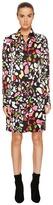 Sonia Rykiel Runway Flower Viscose Printed Shirtdress Women's Dress