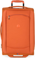 """Delsey Hyperlite 2.0 20"""" Expandable Carry-on Rolling Suitcase in Orange"""