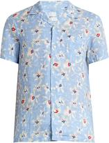 120% Lino 120 LINO Floral-print linen shirt