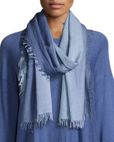 Eileen Fisher Silk-Cashmere Ombre Scarf, Periwinkle