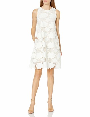 Julia Jordan Women's All Over Floral Printed Sleeveless Dress