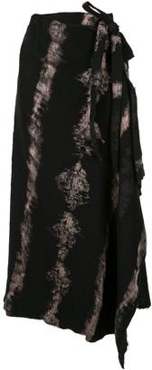 Masnada Asymmetric Tie-Dye Skirt