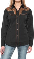 Roper Two-Tone Aztec Western Shirt - Snap Front, Long Sleeve (For Women)
