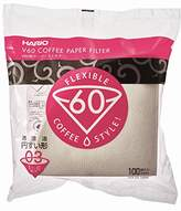Hario V60 Coffee Filter Papers, White, 100-Piece