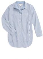 Girl's Treasure&bond Stripe Woven Shirt