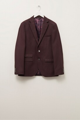 French Connection Malbec Flannel Suit Jacket