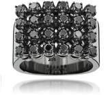 14k Gold Black Diamond Mens Luxurman Ring 1.85ct Ring