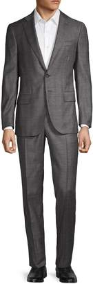 Isaia Slim-Fit Windowpane Wool Suit