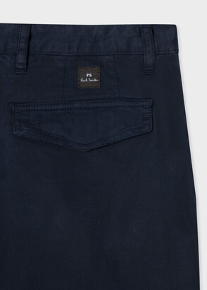 Paul Smith Men's Tapered-Fit Dark Navy Stretch-Cotton Chinos