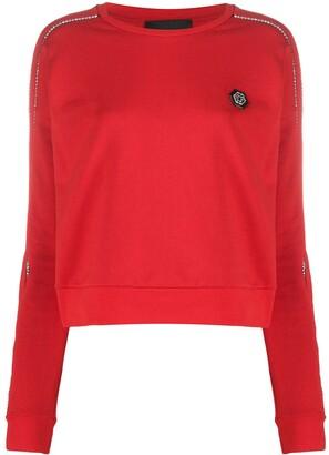 Philipp Plein Embellished Long Sleeve Sweatshirt