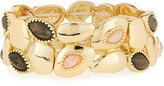 Fragments for Neiman Marcus Rose Quartz & Gray Stone Stretch Bracelet, Gold