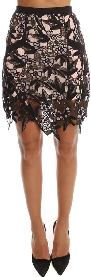 Self-Portrait Nina Mini Skirt