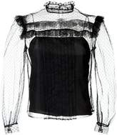 Miu Miu sheer panel blouse