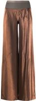 Rick Owens Lilies wide-leg metallic trousers