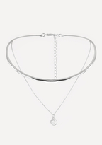 Bebe Charm Collar Necklace