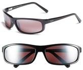 Maui Jim Men's 'Legacy - Polarizedplus2' 61Mm Polarized Sunglasses - Matte Black/ Neutral Grey