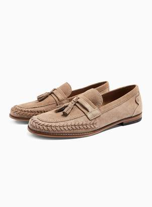 Hudson TopmanTopman Taupe 'Cannock' Suede Loafers