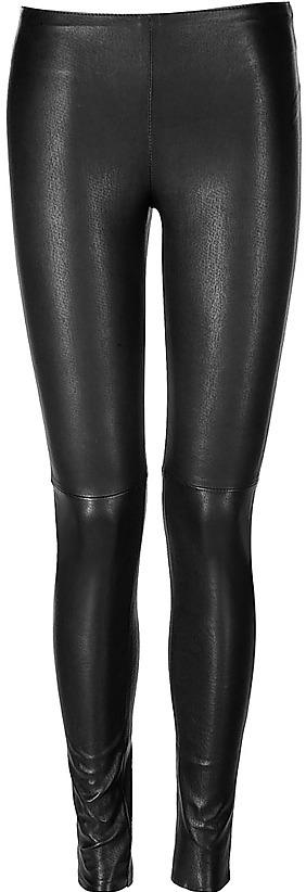 UTZON Black Stretch Leather Leggings