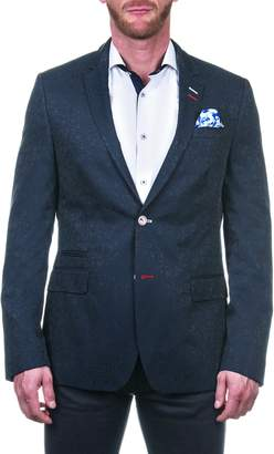 Maceoo Socrate Branchnavy Shaped Fit Sport Coat