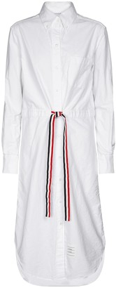 Thom Browne Drawstring cotton shirt dress