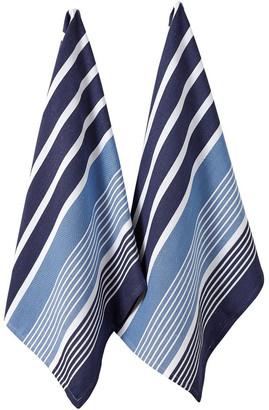 Ladelle Melanie Marbella Navy 2pk Kitchen Towel