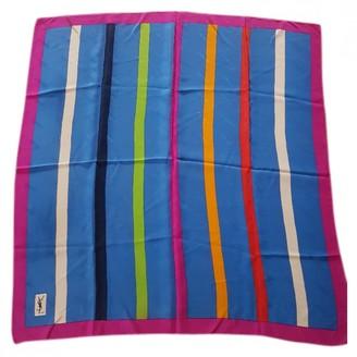 Saint Laurent Turquoise Silk Scarves