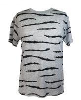 "Zoe Karssen ""zebra All Over"" Heather Grey T-shirt"