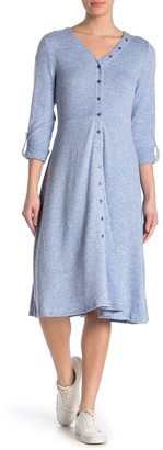 Spense Button Down Midi Dress