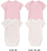 Uniqlo Baby Mesh Short Sleeve Bodysuits, 2 Pack