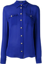 Balmain long sleeve shirt - women - Silk - 36