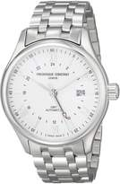 Frederique Constant FC350S5B6B Men's Classics Swiss Automatic Wrist Watches with Silver Band