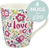 Cath Kidston Pretty Pansies Stanley Mug