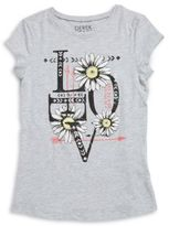 Planet Gold Girls Glitter Graphic Tee
