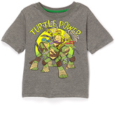 Freeze Gray & Green 'Turtle Power' Cape Tee - Boys
