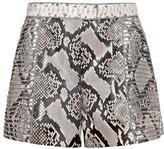 J. Mendel Python Stripe Mounted Shorts