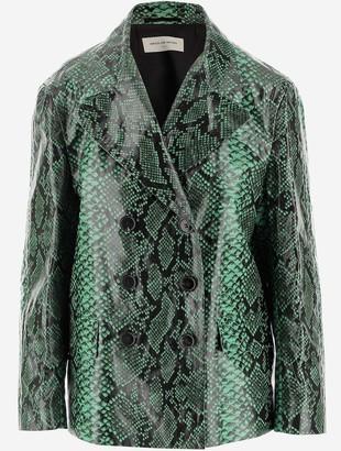 Dries Van Noten Embossed Leather Women's Blazer