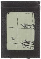 Tommy Bahama Men's Milled Leather and Basket Weave Money Clip Card Case