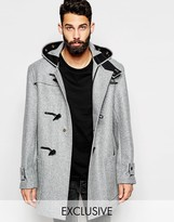 Gloverall Duffle Coat In Melton Wool Exclusive - Grey