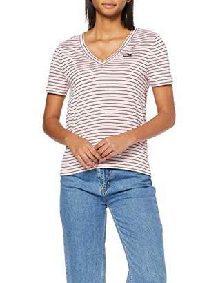 Lacoste womens TF3910 Striped Short Sleeve T - Shirt,4 (Manufacturer Size: 36)