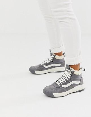 Vans UltraRange HI MTE sherpa gray sneakers