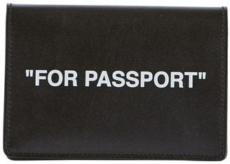 Off-White Quote passport holder